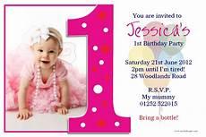 First Birthday Invitation Templates Free 1st Birthday Invitations With Images 1st Birthday