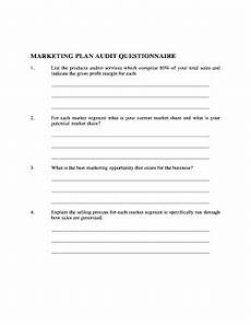 Marketing Plan Questionnaire 17 Printable Online Marketing Plan Sample Forms And