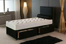 3ft single divan bed with quilted mattress storage