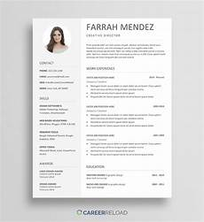 Free Resume Templates Word Download Free Resume Template Download For Word Career Reload