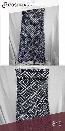 Chances R Designs Chances R Black White Design Long Skirt 95 Polyester 5