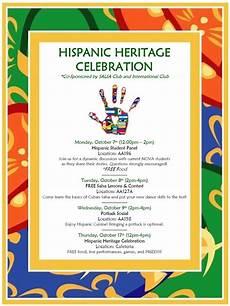 Latin Wording Hispanic Heritage Month Celebration Nova Alexandria Campus
