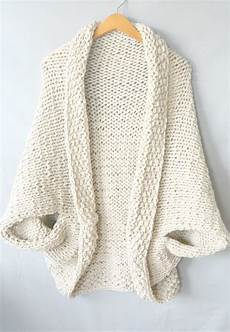 stricken pullunder easy knit blanket sweater pattern in a stitch