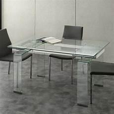 vetro tavolo tavolo allungabile con piano in vetro temperato lord