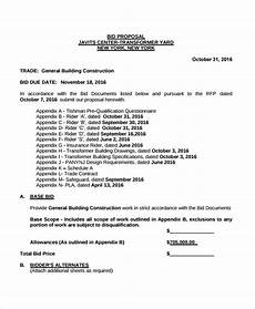 Sample Construction Bid Proposal 17 Construction Proposal Examples In Pdf Ms Word Psd
