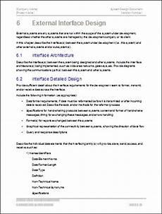 Design Doc Template Design Document Templates Ms Wordexcel Data Dictionary
