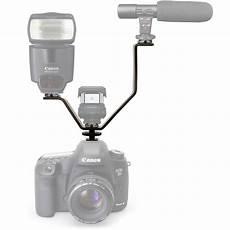 Camera Light Bracket V Shape Shoe Triple Mount Bracket For Slr Dslr Camera