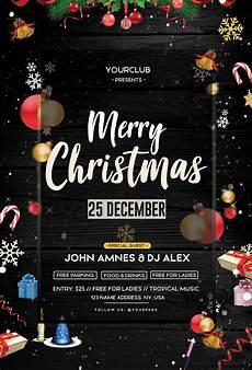 Free Christmas Flyer Psd Christmas Event Free Psd Flyer Template Free Psd Flyer