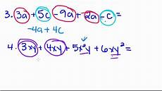 Terms In Algebra Algebra Tutorial 4 Combining Like Terms Youtube