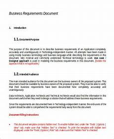 Sample Business Requirements Document Free 9 Requirement Document Samples In Ms Word