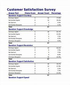 Customer Satisfaction Form Free 21 Survey Forms In Excel