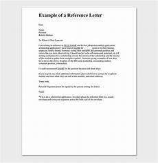 Personal Reference Job Application Personal Reference Letter 15 Free Samples Examples