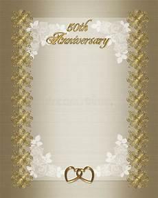 50th Anniversary Template 50th Wedding Anniversary Invitation Template Stock
