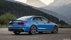 2019 audi s4 2019 audi s4 tdi color turbo blue rear three quarter