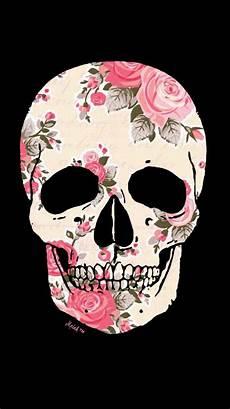 floral skull iphone wallpaper skull floral wallpaper my wallpaper creations in 2019