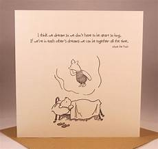 winnie the pooh classic sentiment card quote birthday etsy