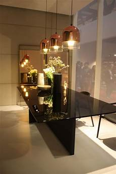 Glass Pendant Lights Over Dining Table A Trip Into The World Of Stylish Dining Tables