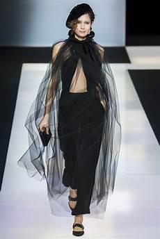 fashion runway black velvet the new giorgio armani