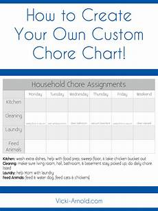 Make Your Own Chart Online For Free How To Create A Custom Chore Chart Simply Vicki