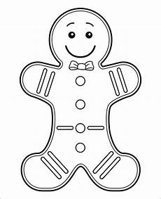 Gingerbread Cookie Template 15 Gingerbread Man Templates Amp Colouring Pages Free