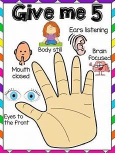 Give Me Five Rules Give Me 5 Listening Poster By Little Miss Teacher Tpt