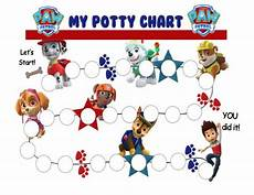 Free Printable Potty Chart Paw Patrol Paw Patrol Potty Training Reward Chart Printable Pdf Potty