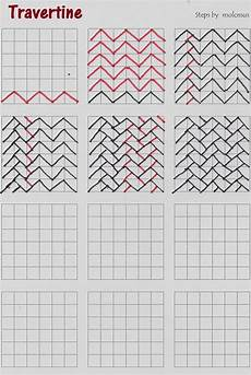 Graph Paper Art Step By Step Travertine Tangle Pattern I Received An Email From Debi