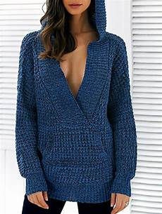 pullover hooded heathered sweater crochet clothes