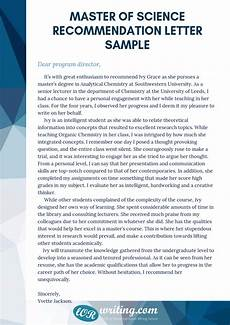 Letter Of Recommendation For Masters Program Letter Of Recommendation For Msc Program Msc Lor Sample