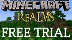 how to get minecraft realms for free free trial