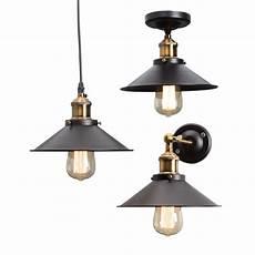 Metal Lights Vintage Industrial Metal Ceiling Hanging Wall Lamp