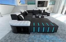 Couch Led Lights Sectional Sofa Bellagio Led U Shaped Black White Ebay