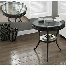 monarch accent table end tables in hammered black with
