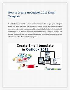 Templates In Outlook 2013 Create An Email Template In Outlook 2013 By Heydon
