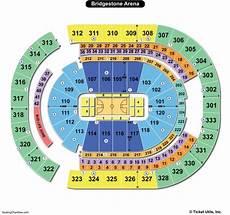 Cms Seating Chart Bridgestone Arena Seating Charts Amp Views Games Answers