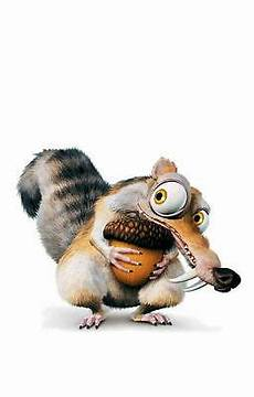 framed print scrat the age squirrel hugging his