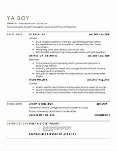 Resume For Part Time Job Student Hey Entering Uni Next Year So Looking For Casual Part