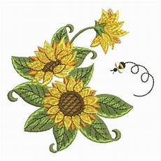 sunflower buzzing bee embroidery designs machine