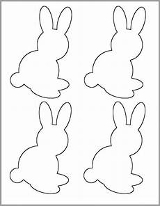 Printable Bunny Template 5 Inch Bunny Printable Template Spring Baby Shower Etsy