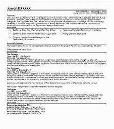 Fire Captain Resume Great Fire Department Promotional Resume Template Picture