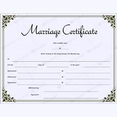 Fake Certificates To Print Marriage Certificates Word Layouts