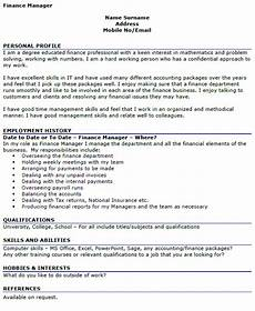Cv Personal Statement Examples Finance Cv Profile Examples Finance