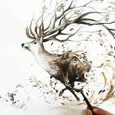 aquarelle zeigen tiere ihrer gef 252 hlvollen seite