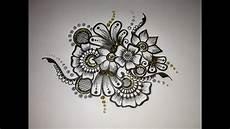Drawings Of A Flower Mehndi Drawing Flower Motif 1 Youtube