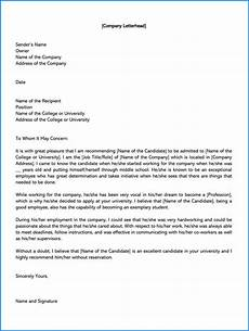 Letter Of Recommendation Without Addressee Free College Recommendation Letter Template Zitemplate