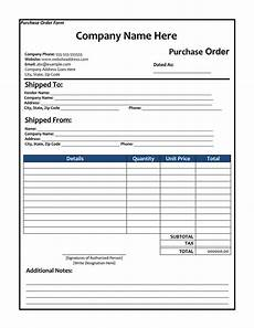 Sample Copy Of Purchase Order 40 Free Purchase Order Templates Forms Samples Excel