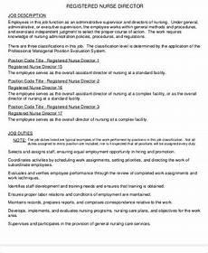 Nursing Supervisor Job Description Director Of Nursing Job Description Sample 9 Examples