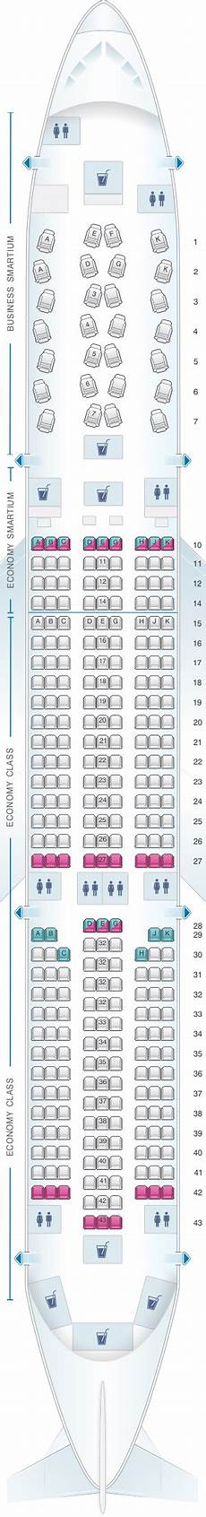 Airbus A350 900 Seating Chart Seat Map Asiana Airlines Airbus A350 900 Seatmaestro