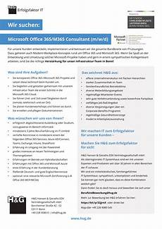 Microsoft Office Consultant Microsoft Office 365 M 365 Consultant W M D H Amp G