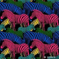 Colorful Zebra Design Colorful Zebra Seamless Pattern Wild Animal Texture